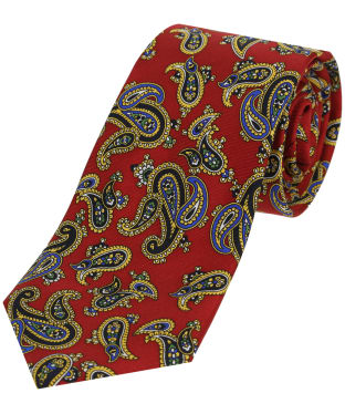 Men's Soprano Paisley Silk Tie - Red