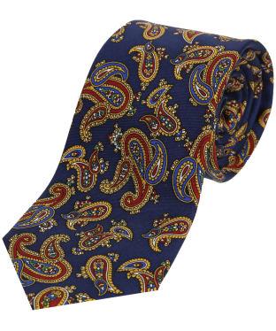 Men's Soprano Paisley Silk Tie - Blue