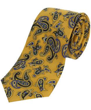 Men's Soprano Paisley Silk Tie - Mustard