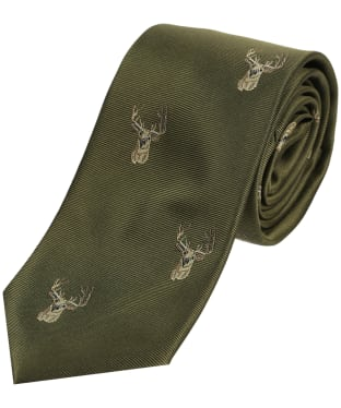Men's Soprano Stags Head Tie - Green