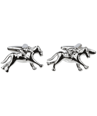 Men's Soprano Horse and Jockey Cufflinks - Silver