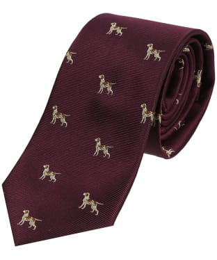 Men's Soprano Pointer Dogs Tie - Wine