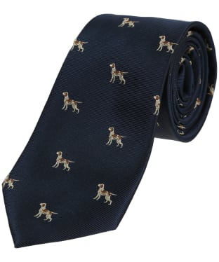 Men's Soprano Pointer Dogs Tie - Blue