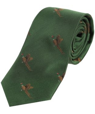Men's Soprano Small Pheasants Tie - Green