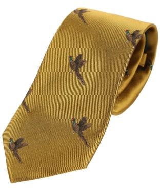 Men's Soprano Small Pheasants Tie - Gold