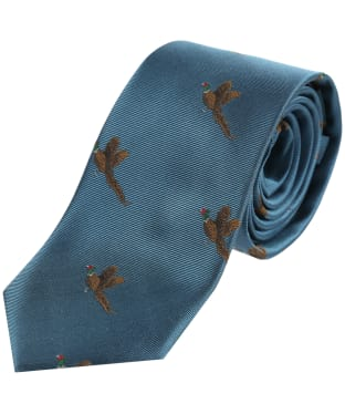 Men's Soprano Small Pheasants Tie - Turquoise