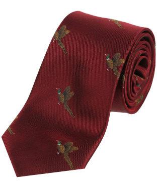 Men's Soprano Small Pheasants Tie - Wine