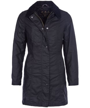 Women's Barbour Belsay Wax Jacket - Black