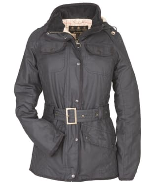 Women's Barbour Bullfinch Waxed Jacket - Navy