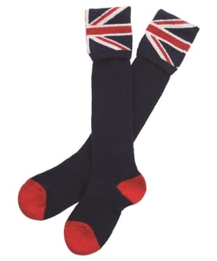 Barbour Union Jack Socks - Navy