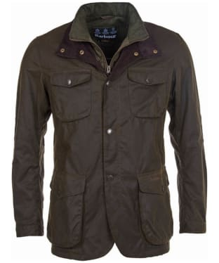 Men's Barbour Ogston Waxed Jacket - Olive