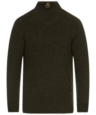 Men's Barbour New Tyne Half Zip Sweater - Olive