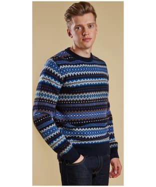 Barbour Caistown Fair Isle Crew Neck Sweater