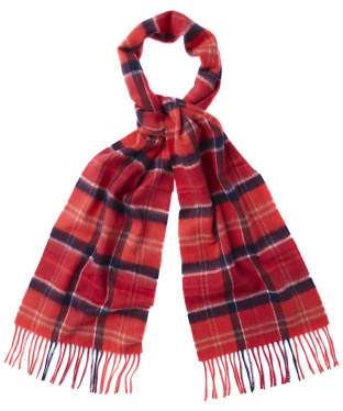 Barbour Tartan Merino Cashmere Wool Scarf - Cardinal Tartan