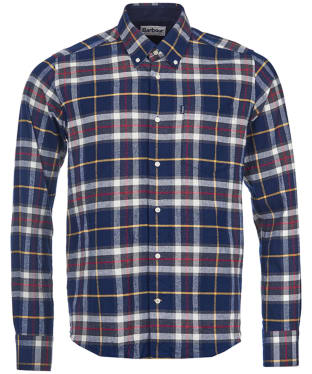 Men's Barbour Highland Check 13 Tailored Shirt - Navy Check