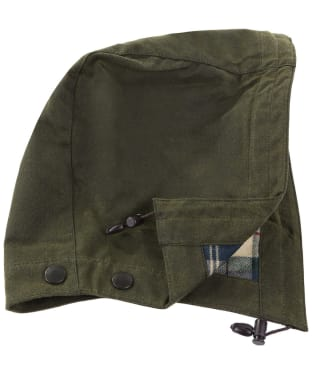 Men's Barbour X Land Rover Tartan Hood - Olive
