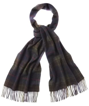 Barbour Brignall Lambswool Scarf - Olive / Brown
