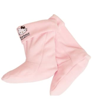 Girl's Barbour Hello Kitty Fleece Wellington Socks - Peony Pink