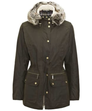 Women's Barbour Kelsall Waxed Jacket - Olive