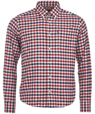 Men's Barbour Moss Check Shirt Tailored Fit - Red Check