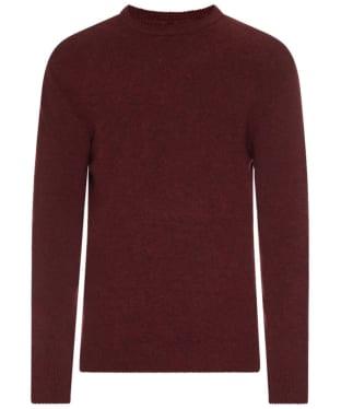 Men's Barbour Patch Crew Neck Lambswool Sweater - Merlot
