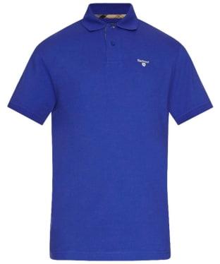 Men's Barbour Tartan Pique Polo Shirt - Sail Blue