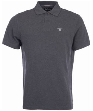 Men's Barbour Tartan Pique Polo Shirt - Slate Marl
