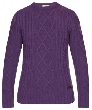 Barbour Falstone Cable Sweater - Wineberry