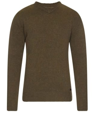 Men's Barbour Nelson Essential V Neck Jumper - Seaweed