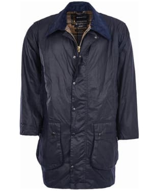 Men's Barbour Border Waxed Jacket - Navy