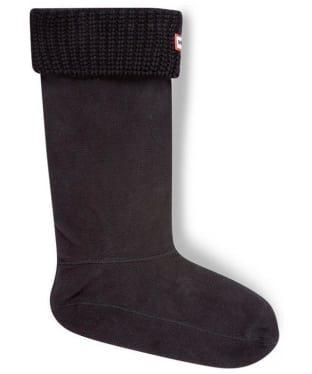 Hunter Half Cardigan Stitch Boot Socks - Black