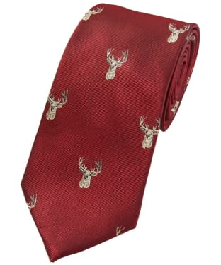 Men's Soprano Stags Head Tie - Wine