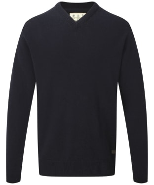 Men's Barbour Nelson Essential V Neck Jumper - Navy