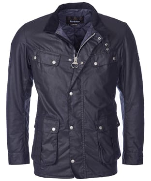 Men's Barbour International Duke Wax Jacket - Navy