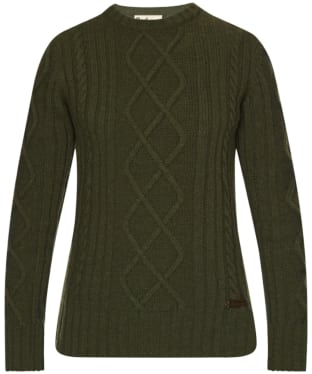Barbour Falstone Cable Sweater - Dark Olive