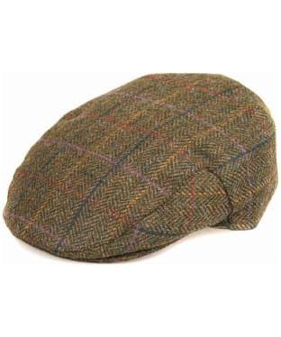 Men's Barbour Moons Tweed Cap - Olive Herringbone