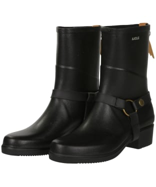 Women's Aigle Miss Julie Short Wellington Boots - Black