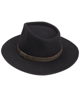 Men's Barbour Crushable Bushman Hat - Black