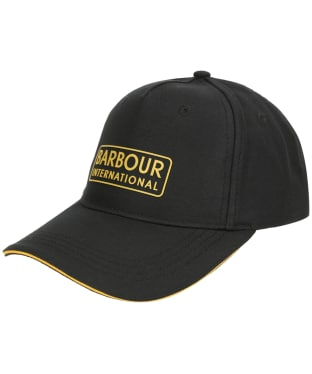 Men's Barbour International Hudson Sports Cap - Black / Yellow