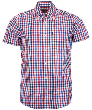 Men's Barbour Russell Short Sleeve Shirt - Red Check