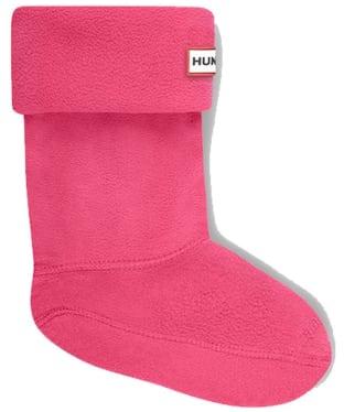 Hunter Kids New Fleece Welly Socks - Fuchsia