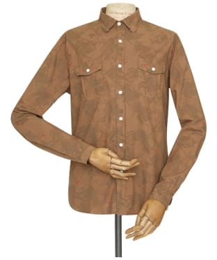 Men's Barbour Overdyed Camo Shirt - Sandstone