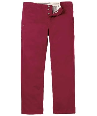 Men's Crew Clothing Vintage Chinos - Deep Red