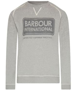 Men's Barbour International Logo Sweater - Grey Marl