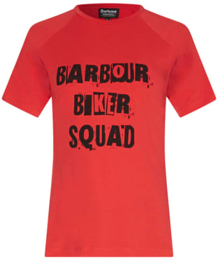 Women's Barbour International Victory T-shirt - Coral