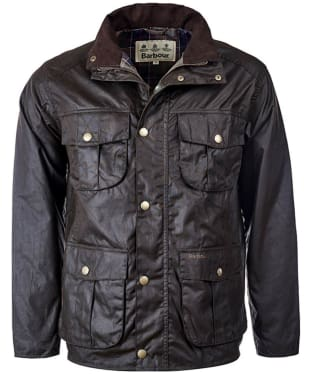 Men's Barbour New Utility Wax Jacket - Olive