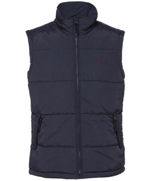 Men's R.M. Williams Patterson Creek Vest - Navy / Burgundy