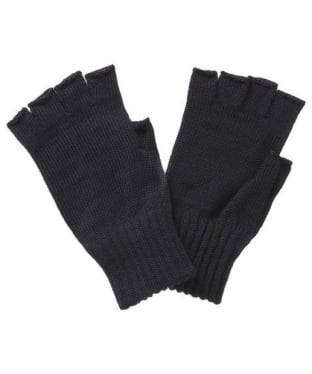 Men's Barbour Fingerless Lambswool Gloves - Black