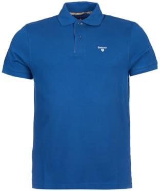 Men's Barbour Tartan Pique Polo Shirt - Deep Blue