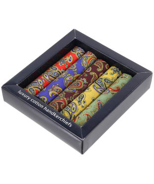 Men's Soprano 5 Colour Paisley Handkerchiefs - Multi